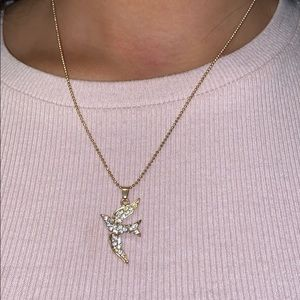 Golden bird necklace